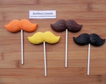 MUSTACHE Chocolate Pops (12) - LITTLE MAN Birthday/Mustache Favors