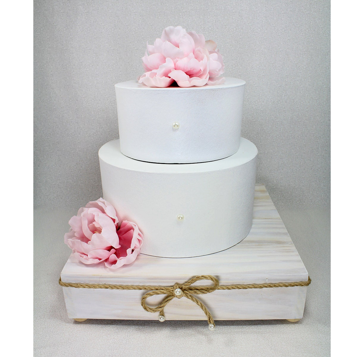 Rustic Chic Square Wooden Wedding Cake Stand by DazzlingGRACE