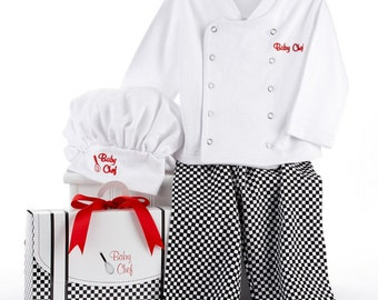 Personalized Embroidered Baby Chef Outfit