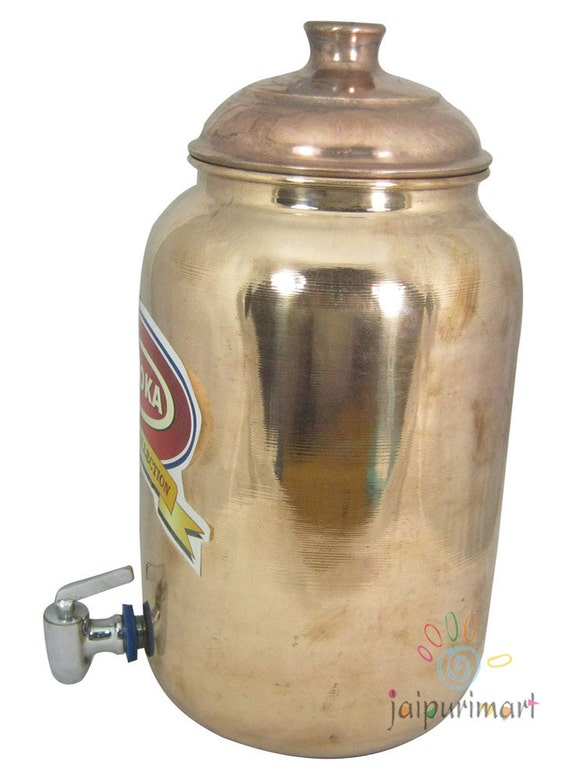 Copper water tank pitcher with tap for good and by shilimukh for Copper water tank