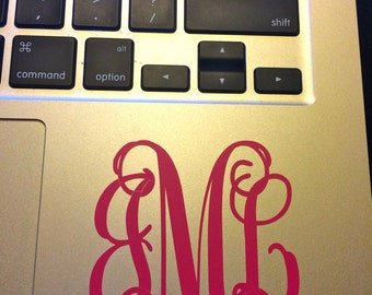 Monogrammed Laptop Decals