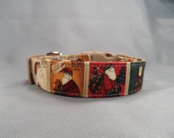 Christmas Dog Collar Santa Claus Stamps
