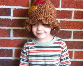 Toddler Scarecrow Hat size 2T-4T