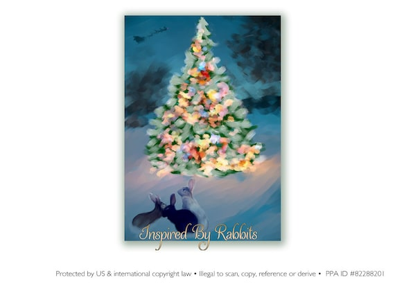 Items similar to woodland snow scene christmas card three Christmas card scenes to paint