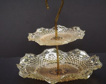 Vintage, Two tiered serving tray