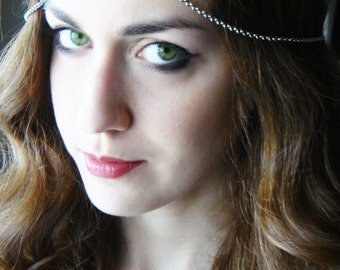CHAIN HEADPIECE Head Chain,headdress boho chic head piece / head chain / headband