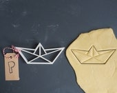 Origami boat cookie cutter MEDIUM, 3D printed
