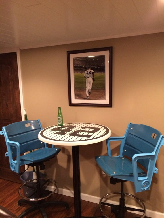 Navy Blue Baseball Numbers Pub Tables