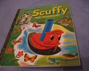 Scuffy The Tugboat, 1983, A Little Golden Book
