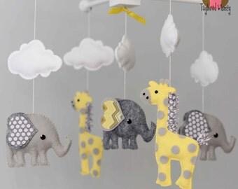 Elephant Mobile - Giraffe Mobile - Custom Mobile (ships in 4-6 weeks)