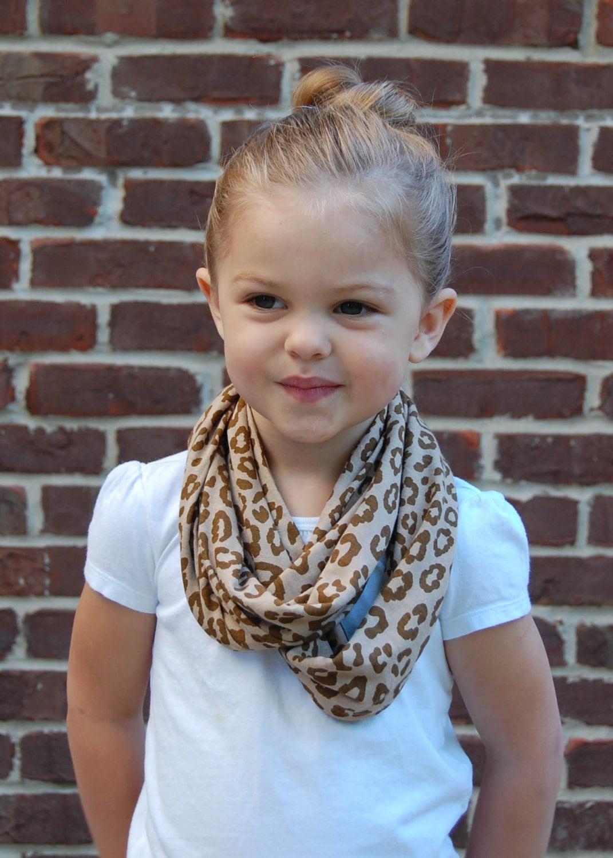 animal print toddler infinity scarf