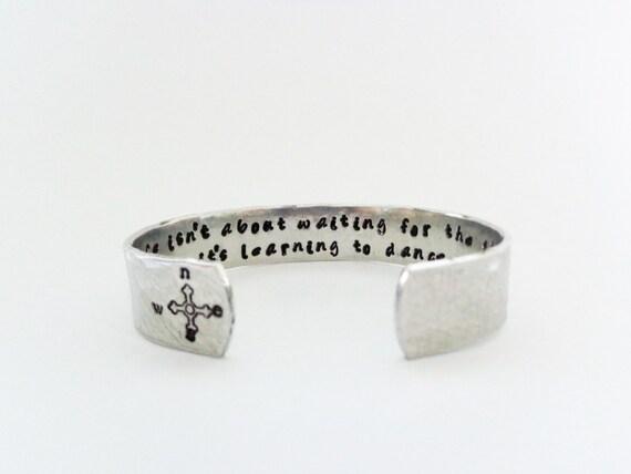 Latitude Bracelet | Longitude Bracelet | GPS Bracelet | Gift For Her | Custom Hand Stamped Bracelet Life isn't about waiting...