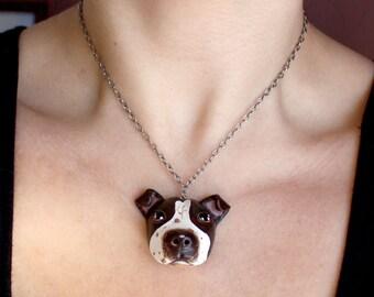 Custom Dog Necklace & Pet Portrait