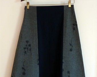 Sale ** Paneled A-line Skirt - Size 6 or Small