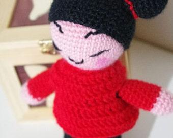Amigurumi Doll Pucca Funny Love - Kawaii - Made to order