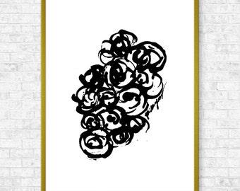 Ink Flowers #11, flowers print