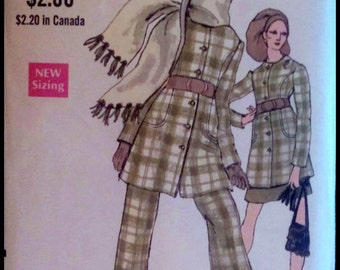"Vogue 7646  Misses' Jacket, Skirt, Pants And Scarf   Bust  32.5"" UNCUT"