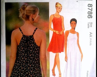 McCall's 8786  Misses' Dress in Two Lengths 2 Sizes Available  UNCUT