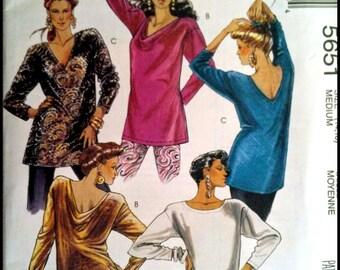 McCall's 5651  Misses' Tunics  Size (14,16)  UNCUT