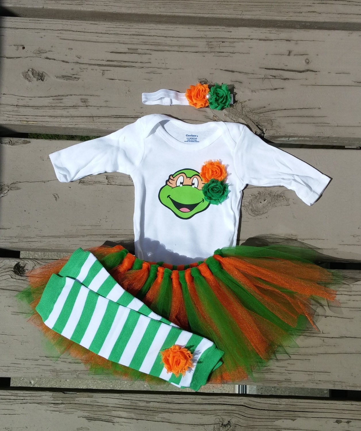 baby ninja turtle girl outfit baby shower by craftingballerinamom