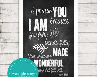 Psalm 139:14 Instant Download