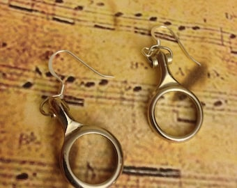Clarinet Earrings, Instrument Earrings, Instrument Jewelry, Clarinet Jewelry, Music Jewelry, Music Earrings, Clarinet Key