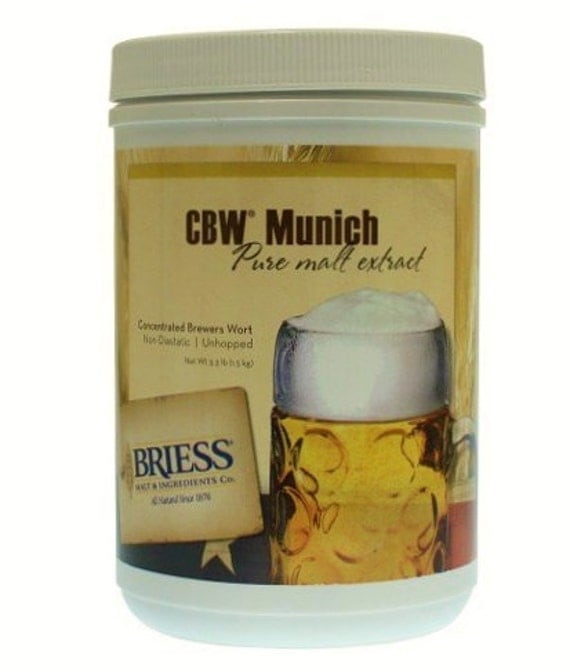 Briess MUNICH Liquid Malt Extract LME For Beer Making 3.3 Lb Canister