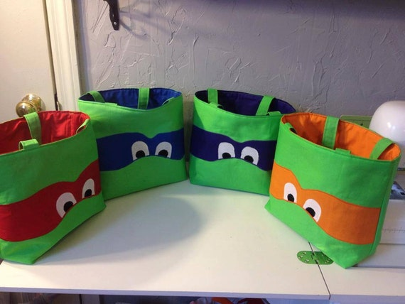 Ninja Turtles TMNT Bag Trick-or-Treat Tote purse gift bag