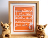 Winnie the Pooh Quote for Nursery, Baby Shower, Paper Cut, Unique Gift, Wall Decal