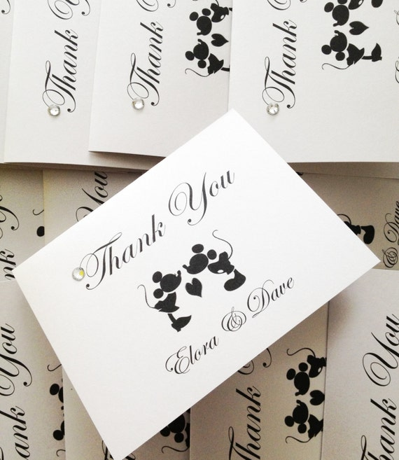 mickey mouse thank you cards disney theme weddings mickey