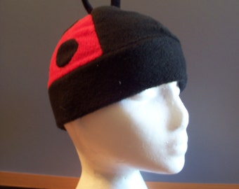 Fleece Ladybug Hat