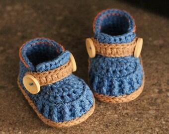 "Baby boys Booties Crochet Shoes ""Jett Boots"" Instant Download, Cute Boys Pattern, Modern crochet boots PATTERN ONLY"