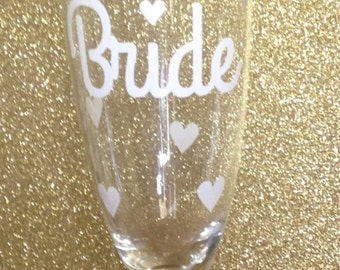 BRIDE CHAMPAGNE GLASS!  Perfect bridal shower gift!!!