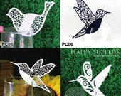 30pcs (PC05-08) Laser Cut Place Card / Escort Card / Wine Glass Card / Party Decoration / Packaging - 18 Colors Available