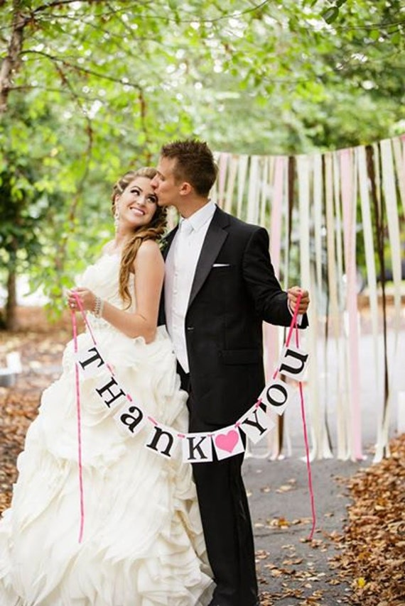 Thank You Sign / Thank You Banner / Wedding Garland / Thank You Photo Prop / Thank You / Wedding Sign / Wedding Decoration