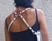 White Croc Single Holster / utility holster / belt bag / pocket belt / bum bag / leather / festival / burning man