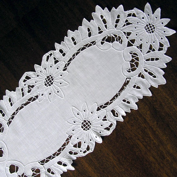 Items similar to vintage cutwork embroidery s