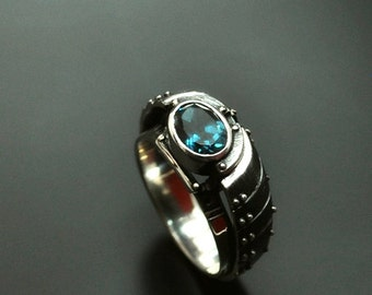 "Sterling Silver Industrial Steampunk Ring ""Ambiqundum"" 