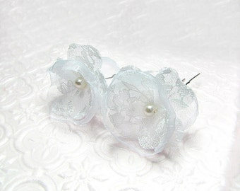 Off White Bridal Hair Pins - Bridal Hair Flower - Wedding Headpiece - Wedding Flowers Hair Pins