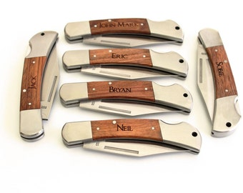 Groomsman gift Pocket Knife Fathers day gift Groomsmen gifts Hunting Knife Christmas gifts Best Man gift Personalized Groomsman knife