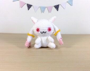 Kyubey Amigurumi Crochet Plush Doll