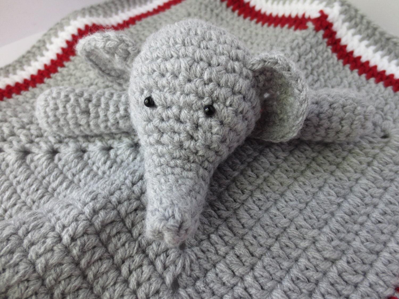 Amigurumi Elephant Blanket : Crochet Elephant Security Blanket Crochet by ...