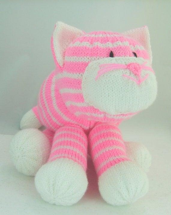 Knitting Patterns Toys Uk : Knitting pattern cuddles the cat soft toy