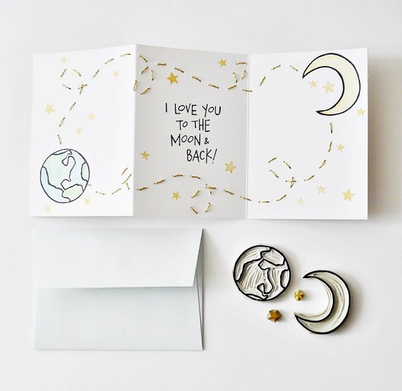 I Love You Quotes: Items Similar To I Love You To The Moon And Back Valentine