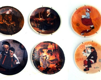 KNOWLES Norman Rockwell Set of 10 Fine China Collector Plates Limited Edition