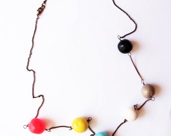 Multicolored Beads necklace.