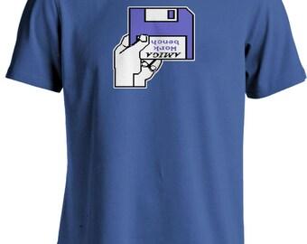 Amiga A500 Kickstart Workbench Insert Disk Geek T-shirt