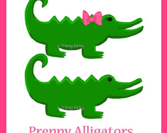 Alligator clipart | Etsy