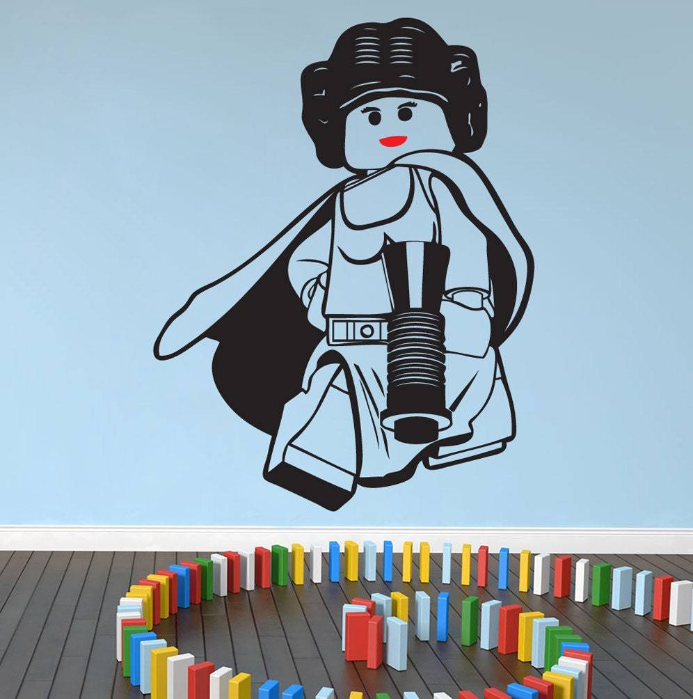 lego star wars princess leia wall art wall stickersdecal. Black Bedroom Furniture Sets. Home Design Ideas