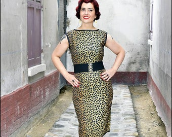 Leopard dress without sleeves